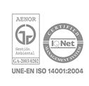 Certificado AENOR UNE-EN ISO 14001:2004