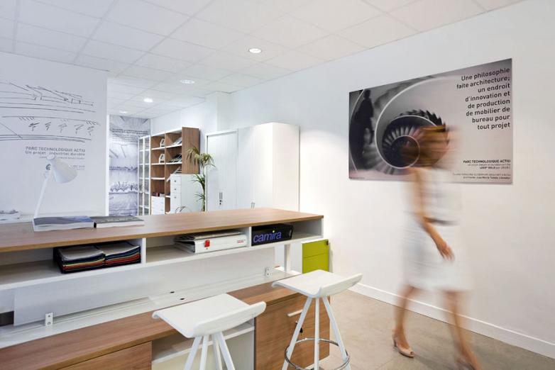 Actiu Paris Showroom: characterizes its own office and