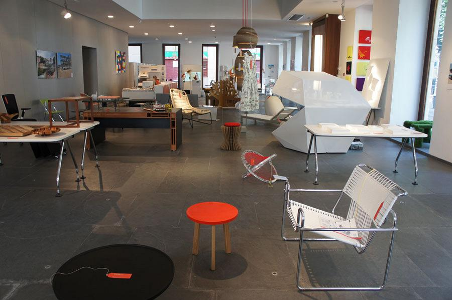 Actiu's Red Dot chairs at the night of Architecture, Design and Solidarity 10