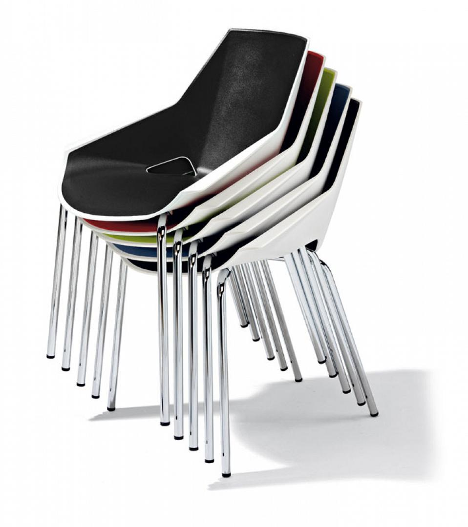 stackable , 5 chairs